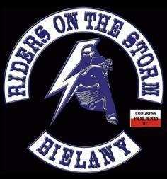 Znalezione obrazy dla zapytania riders on the storm logo bielany